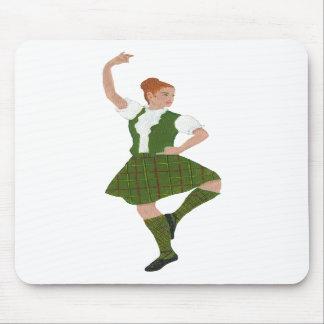 Scottish Highland Dancer Tribe of Mar Tartan Mouse Pad