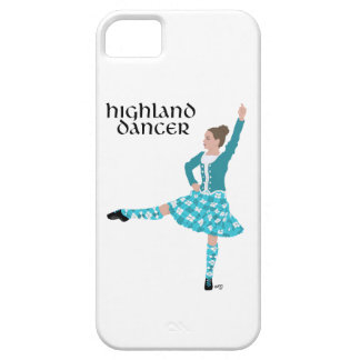 Scottish Highland Dancer - Turquoise Case For The iPhone 5