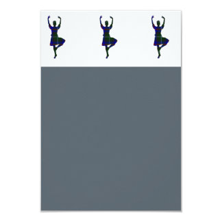 Scottish Highland Dancers 9 Cm X 13 Cm Invitation Card