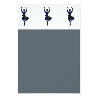 Scottish Highland Dancers 9 Cm X 13 Cm Invitation Card