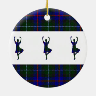 Scottish Highland Dancers double-sided Round Ceramic Decoration