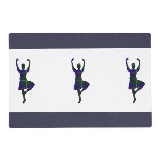 Scottish Highland Dancers Laminated Placemat