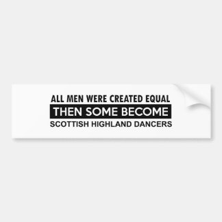 Scottish Highland dancing designs Bumper Sticker