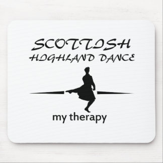 Scottish Highland dancing designs Mouse Pad
