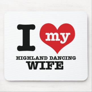 Scottish Highland dancing designs Mousepads