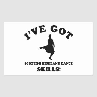 Scottish Highland dancing designs Rectangular Sticker