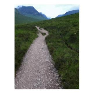 Scottish Highland Path to Blue Yonder Postcard