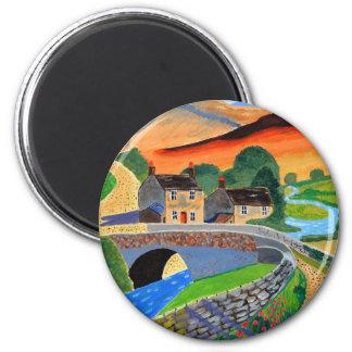 Scottish Highlands 3 6 Cm Round Magnet