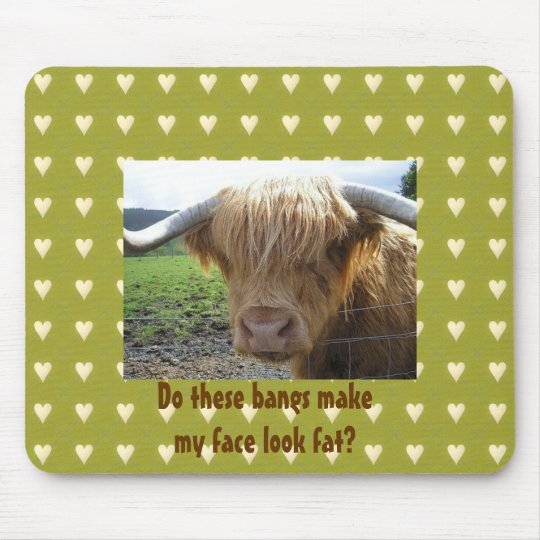 Scottish Highlands Steer Humour - Mousepad