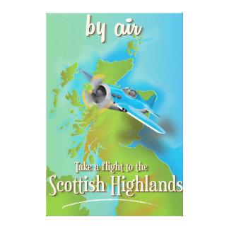 Scottish Highlands vintage flight poster Canvas Print