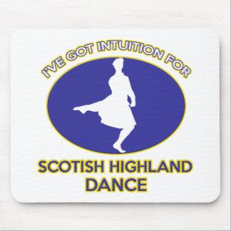 scottish higland dance design mouse pad