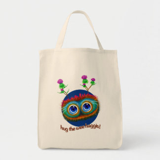 Scottish 'Hoots Toots Haggis' Tote Bag