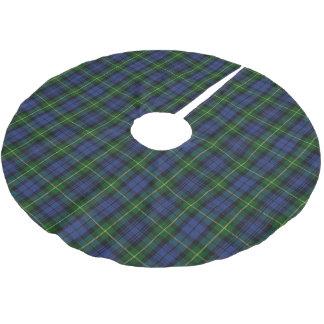 Scottish House of Gordon Blue Green Clan Tartan Brushed Polyester Tree Skirt