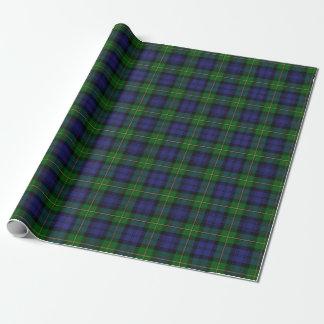 Scottish House of Gordon Clan Tartan Wrapping Paper