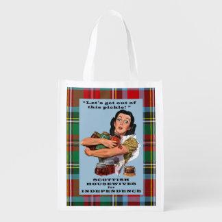 Scottish Housewives for Independence Tartan Bag Market Totes