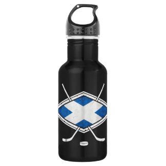 Scottish Ice Hockey Flag Bottle