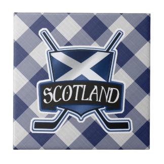 Scottish Ice Hockey Flag Ceramic Tile