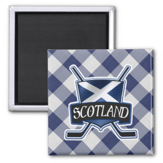 Scottish Ice Hockey Flag Logo Magnet