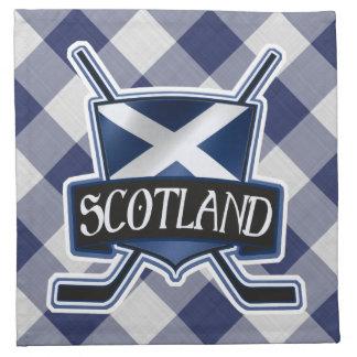 Scottish Ice Hockey Flag Logo Napkin