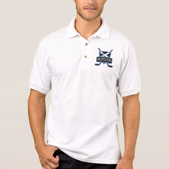 Scottish Ice Hockey Flag Logo Polo Shirt