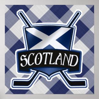 Scottish Ice Hockey Flag Logo Print