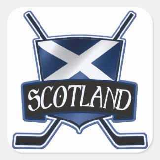 Scottish Ice Hockey Flag Logo Square Sticker