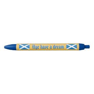 Scottish Independence Aye Dream Pen Black Ink Pen