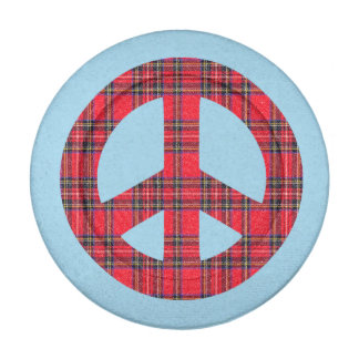 Scottish Independence Ban the Bomb Peace Symbol Pack Of Small Button Covers