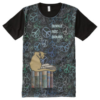 Scottish Independence Books Not Bombs T-Shirt All-Over Print T-Shirt