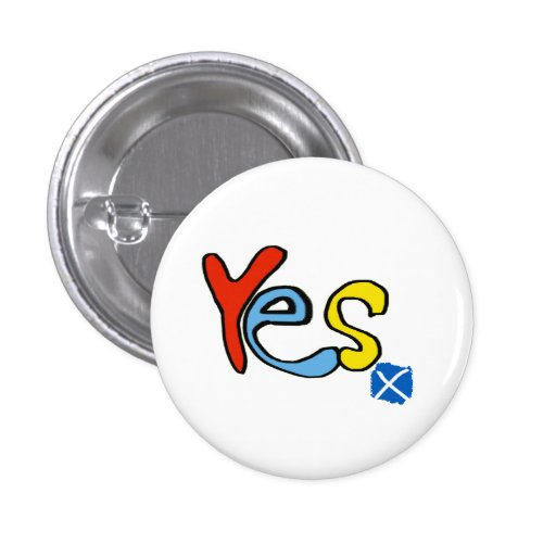 Scottish Independence Bright Yes Badge Pins