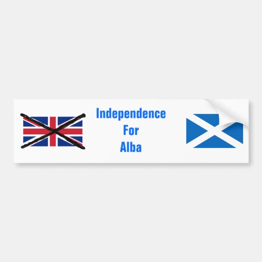 Scottish Independence bumper sticker