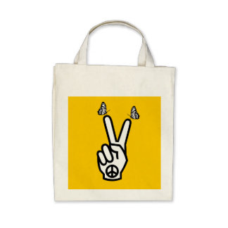 Scottish Independence Butterfly Peace Symbol Tote Tote Bags
