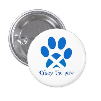 Scottish Independence Cat Paw Print Saltire Badge Button