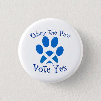 Scottish Independence Cat Paw Print Yes Badge