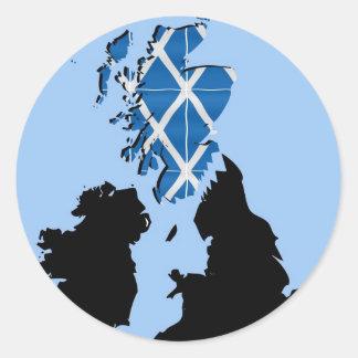 Scottish Independence Classic Round Sticker