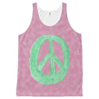 Scottish Independence CND No Nukes Tie Dye All-Over Print Tank Top
