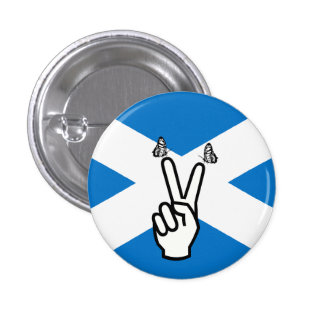Scottish Independence Flag Peace Sign Button