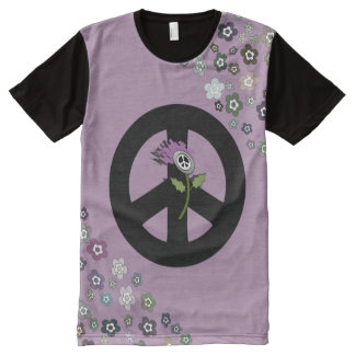 Scottish Independence Floral No Trident Tee All-Over Print T-Shirt