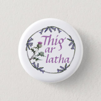 Scottish Independence Gaelic Bluebell  Button