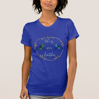 Scottish Independence Gaelic Bluebell Dragonflies T-Shirt
