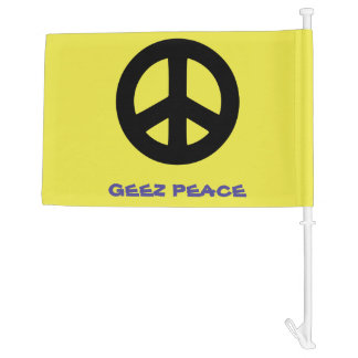 Scottish Independence Geez Peace Car Flag