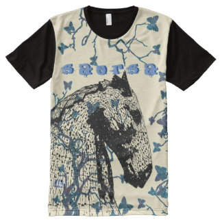 Scottish Independence Hawthorn Butterfly Horse All-Over Print T-Shirt