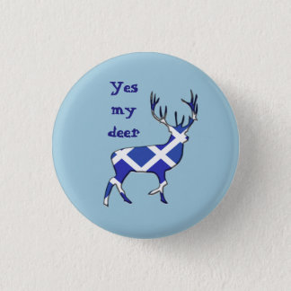 Scottish Independence Highland Stag Yes Badge
