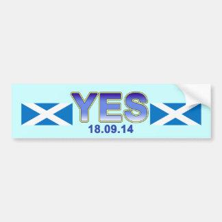 Scottish Independence Indy Saltire Bumper Sticker