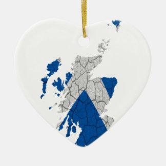 Scottish Independence Merchandise Ceramic Heart Decoration