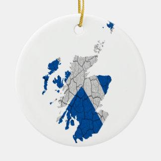 Scottish Independence Merchandise Round Ceramic Decoration