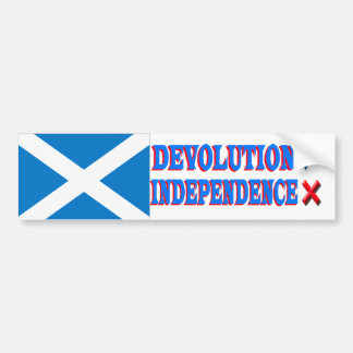 Scottish Independence NO Bumper Sticker