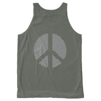 Scottish Independence No Nukes Check Symbol All-Over Print Tank Top
