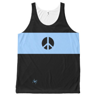 Scottish Independence No Nukes Flag Spider All-Over Print Tank Top