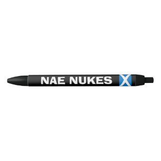 Scottish Independence No Nukes Saltire Flag Pen